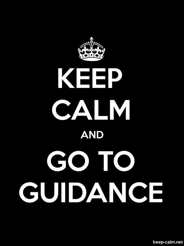 KEEP CALM AND GO TO GUIDANCE - white/black - Default (600x800)
