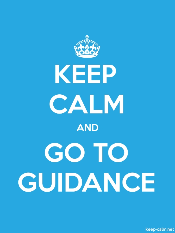 KEEP CALM AND GO TO GUIDANCE - white/blue - Default (600x800)