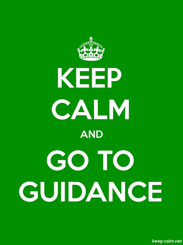KEEP CALM AND GO TO GUIDANCE - white/green - Default (600x800)