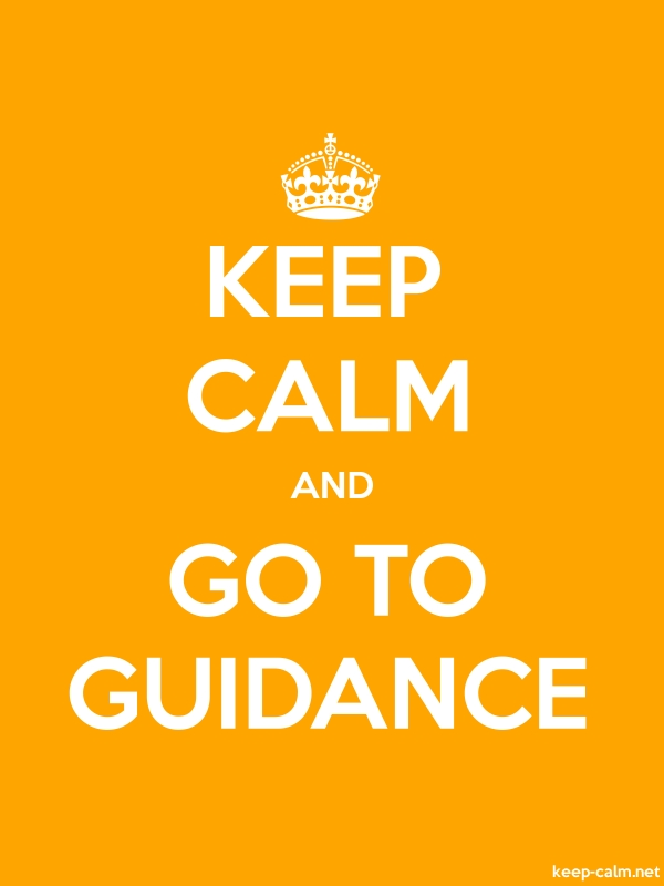 KEEP CALM AND GO TO GUIDANCE - white/orange - Default (600x800)