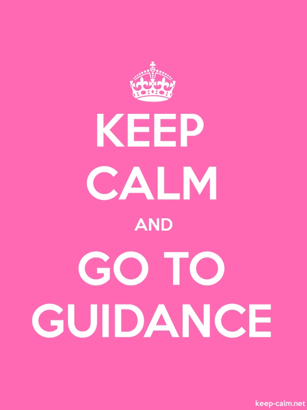 KEEP CALM AND GO TO GUIDANCE - white/pink - Default (600x800)