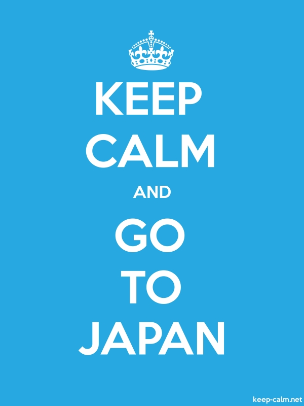 KEEP CALM AND GO TO JAPAN - white/blue - Default (600x800)