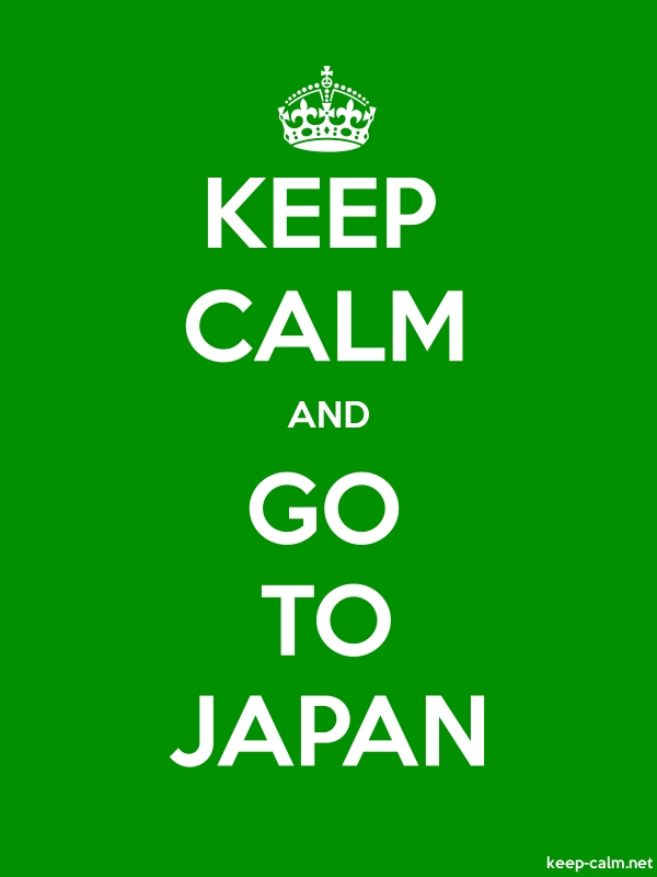 KEEP CALM AND GO TO JAPAN - white/green - Default (600x800)