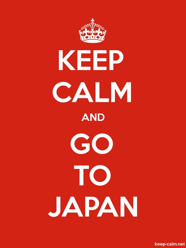 KEEP CALM AND GO TO JAPAN - white/red - Default (600x800)