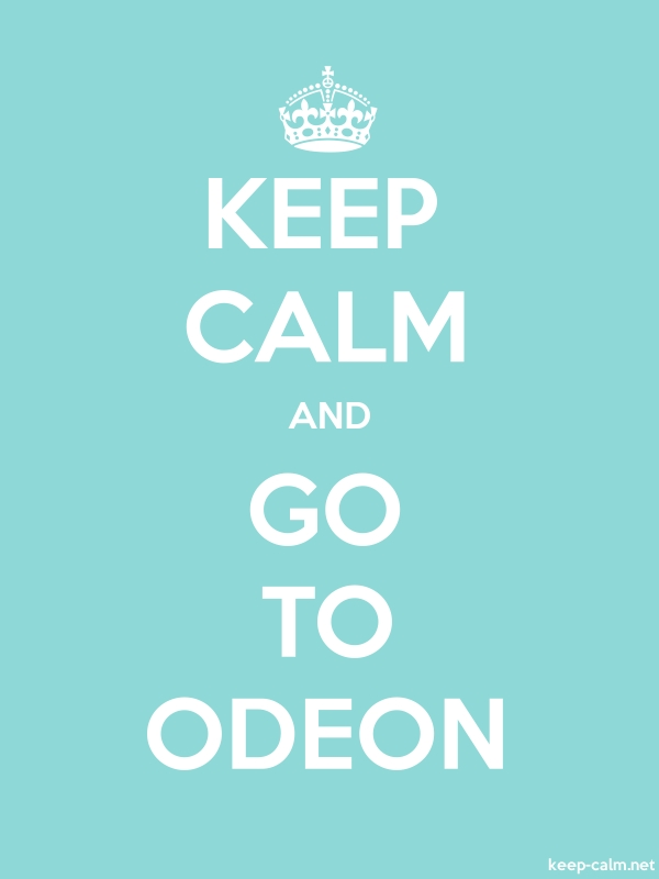 KEEP CALM AND GO TO ODEON - white/lightblue - Default (600x800)