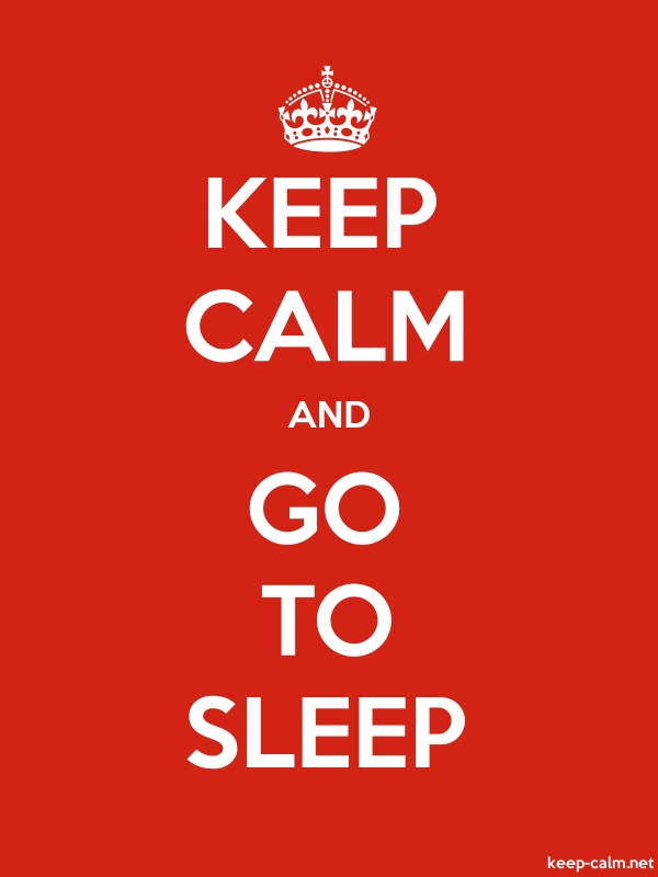 KEEP CALM AND GO TO SLEEP - white/red - Default (600x800)