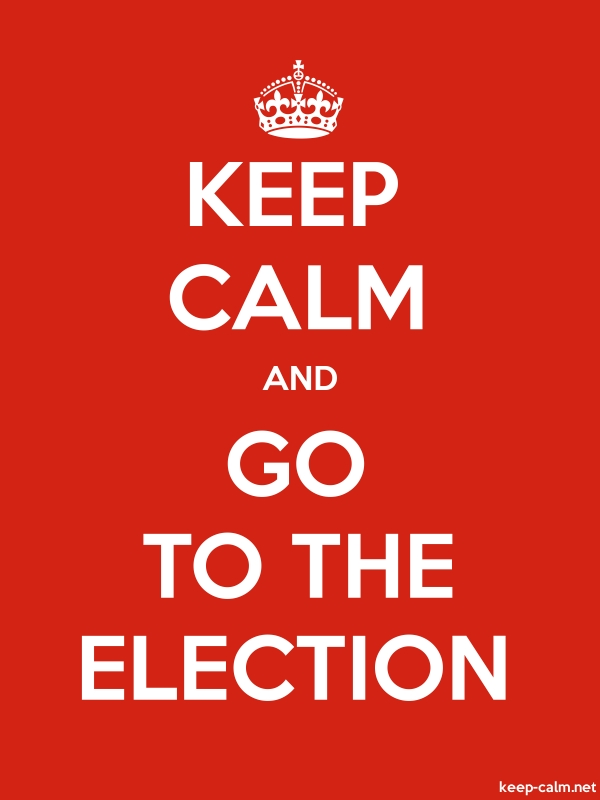 KEEP CALM AND GO TO THE ELECTION - white/red - Default (600x800)