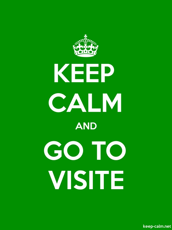 KEEP CALM AND GO TO VISITE - white/green - Default (600x800)