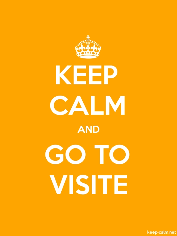 KEEP CALM AND GO TO VISITE - white/orange - Default (600x800)