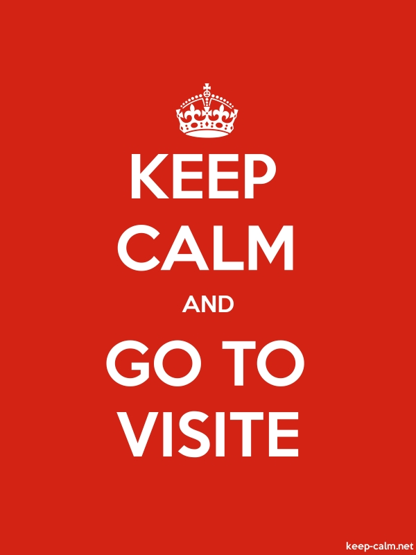 KEEP CALM AND GO TO VISITE - white/red - Default (600x800)