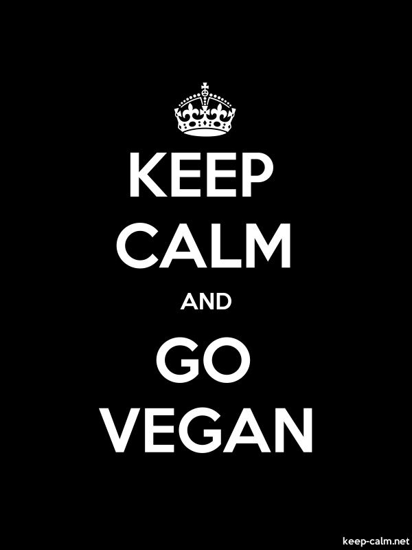 KEEP CALM AND GO VEGAN - white/black - Default (600x800)