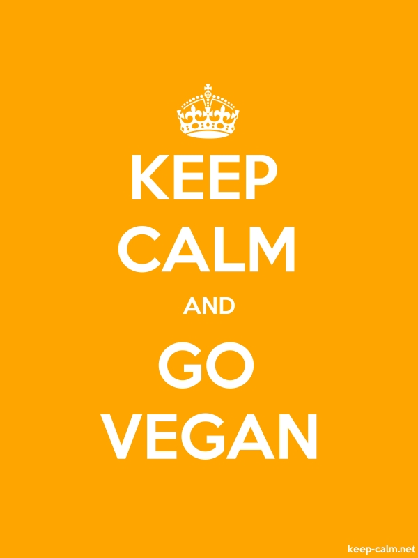 KEEP CALM AND GO VEGAN - white/orange - Default (600x800)