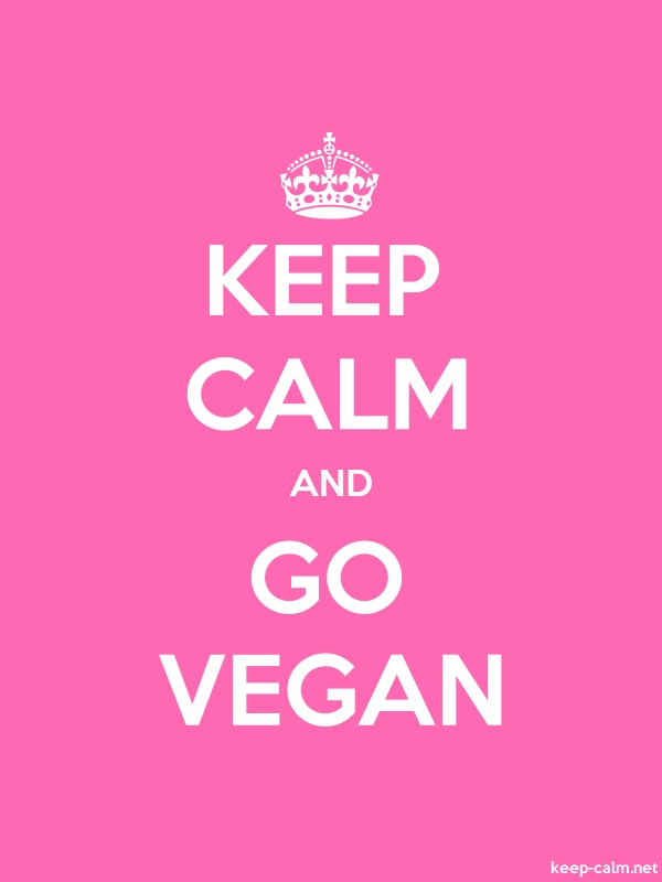 KEEP CALM AND GO VEGAN - white/pink - Default (600x800)