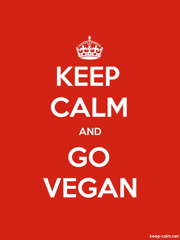 KEEP CALM AND GO VEGAN - white/red - Default (600x800)