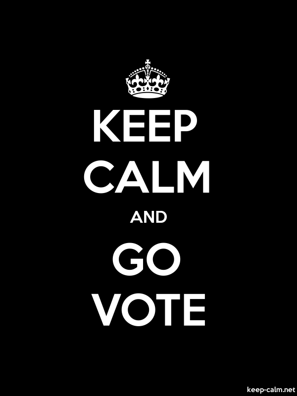 KEEP CALM AND GO VOTE - white/black - Default (600x800)