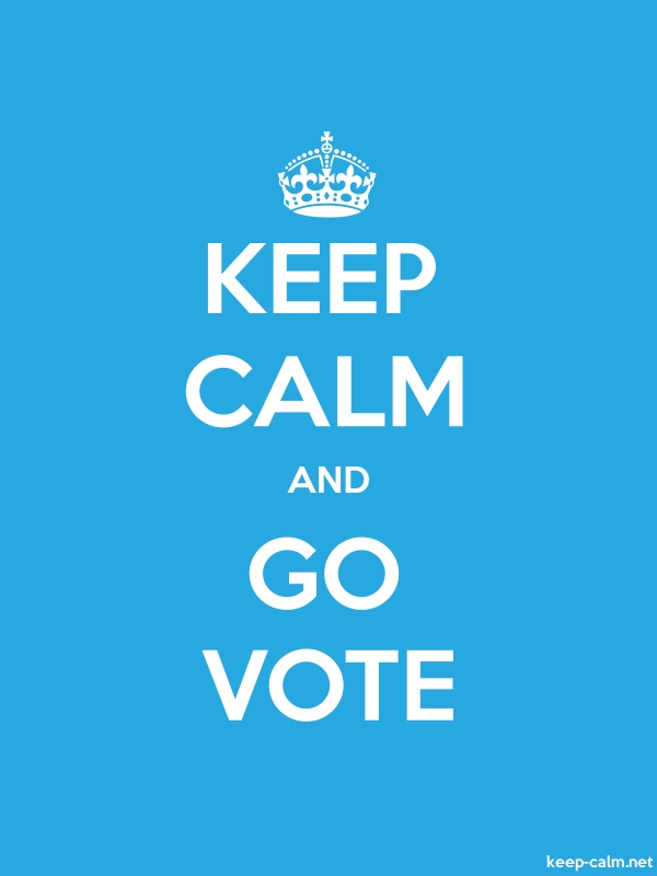 KEEP CALM AND GO VOTE - white/blue - Default (600x800)