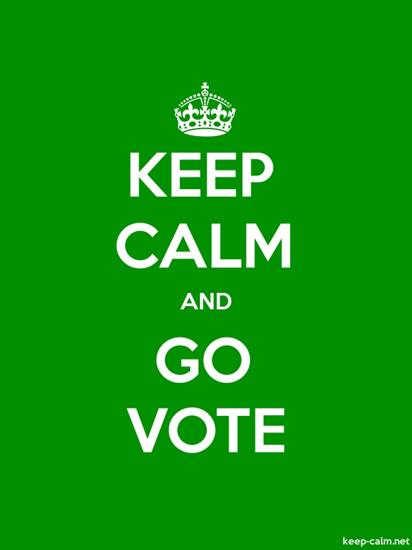 KEEP CALM AND GO VOTE - white/green - Default (600x800)