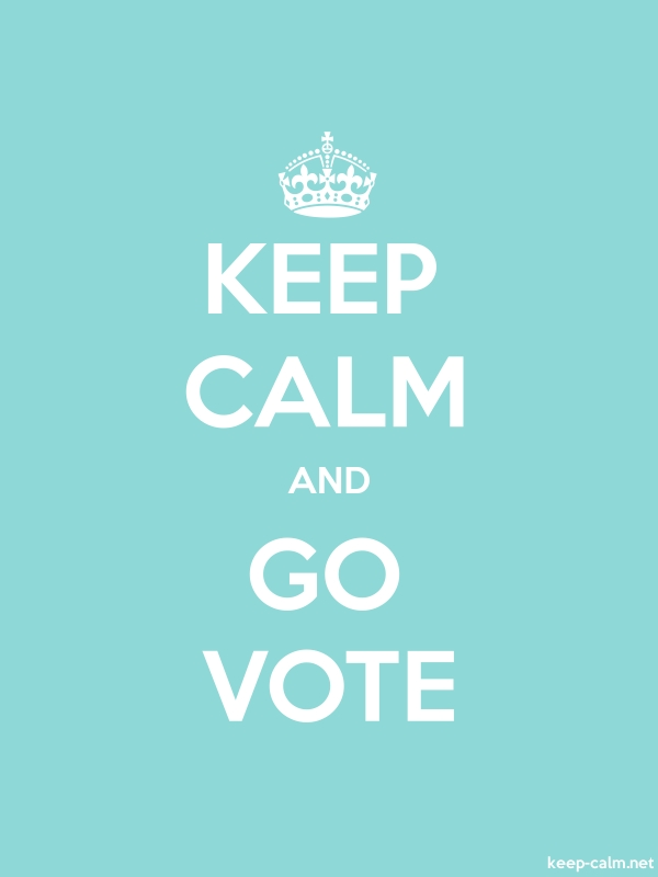 KEEP CALM AND GO VOTE - white/lightblue - Default (600x800)