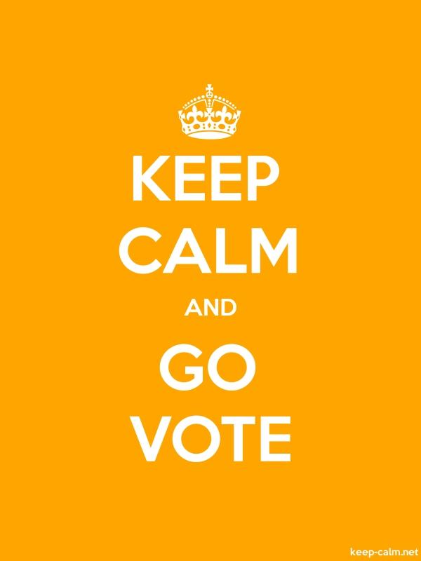 KEEP CALM AND GO VOTE - white/orange - Default (600x800)