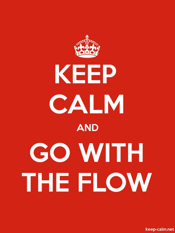 KEEP CALM AND GO WITH THE FLOW - white/red - Default (600x800)