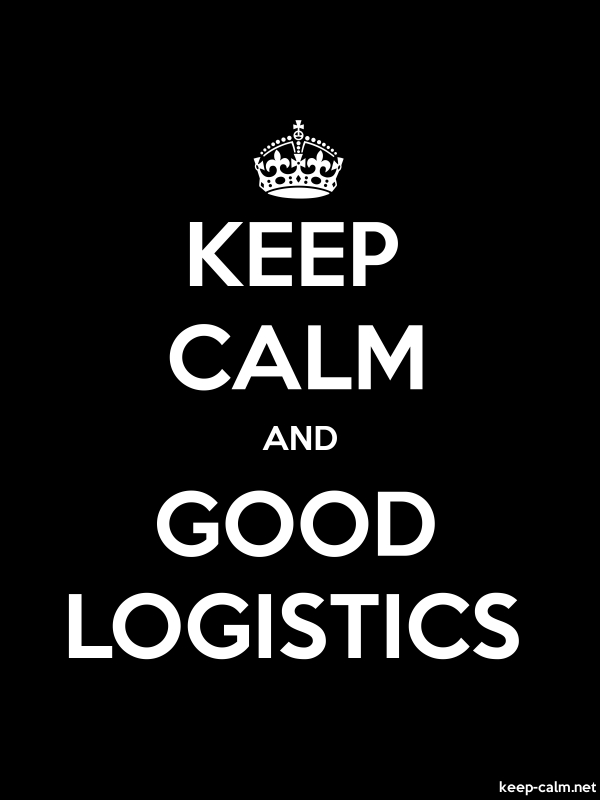 KEEP CALM AND GOOD LOGISTICS - white/black - Default (600x800)