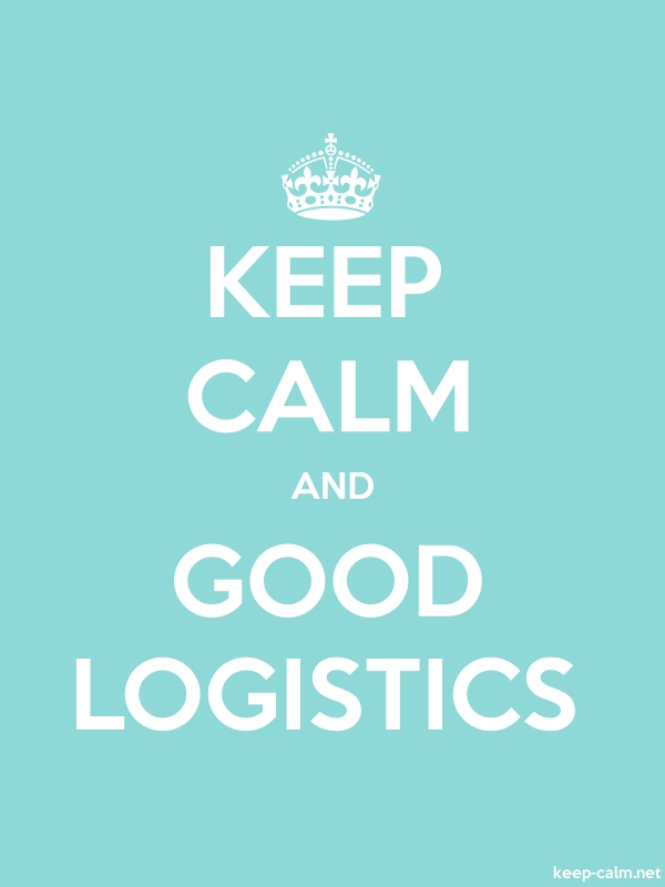 KEEP CALM AND GOOD LOGISTICS - white/lightblue - Default (600x800)
