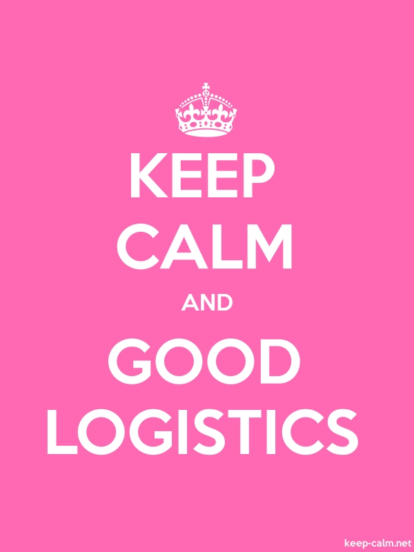 KEEP CALM AND GOOD LOGISTICS - white/pink - Default (600x800)
