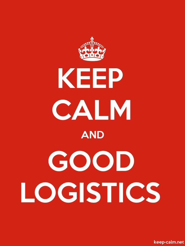 KEEP CALM AND GOOD LOGISTICS - white/red - Default (600x800)