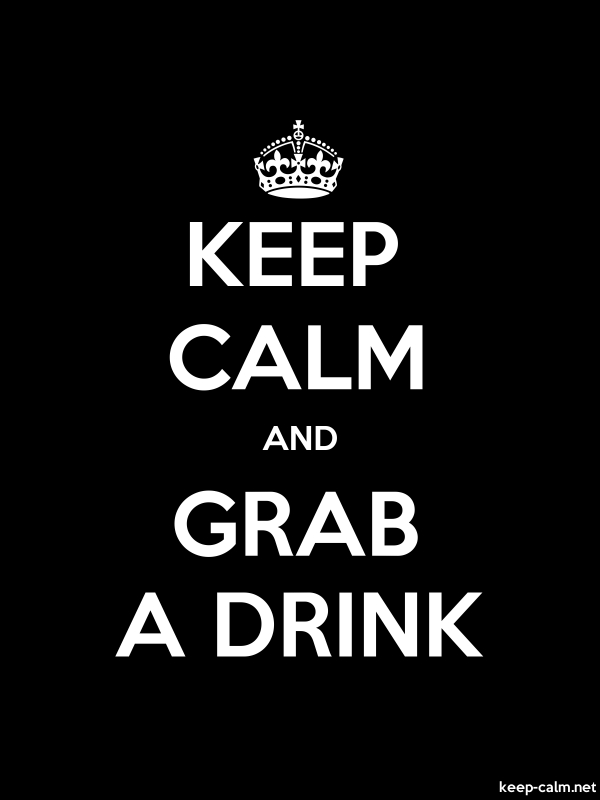 KEEP CALM AND GRAB A DRINK - white/black - Default (600x800)