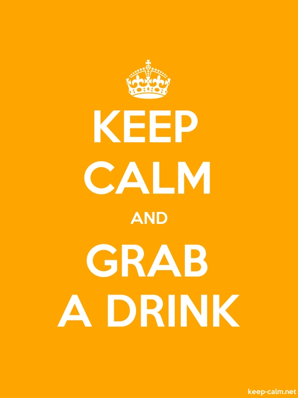 KEEP CALM AND GRAB A DRINK - white/orange - Default (600x800)