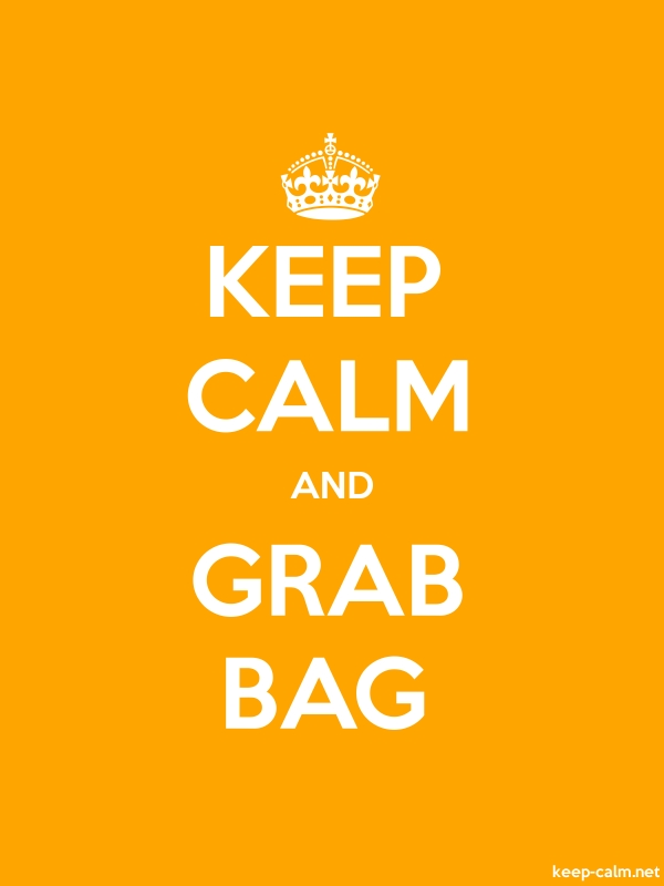 KEEP CALM AND GRAB BAG - white/orange - Default (600x800)