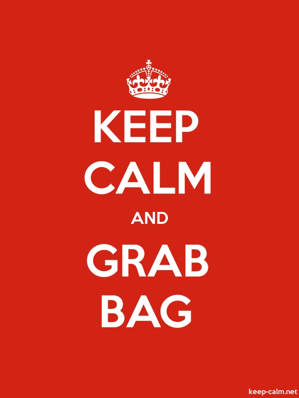 KEEP CALM AND GRAB BAG - white/red - Default (600x800)