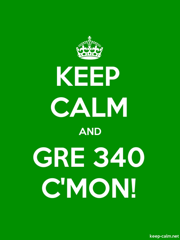 KEEP CALM AND GRE 340 C'MON! - white/green - Default (600x800)