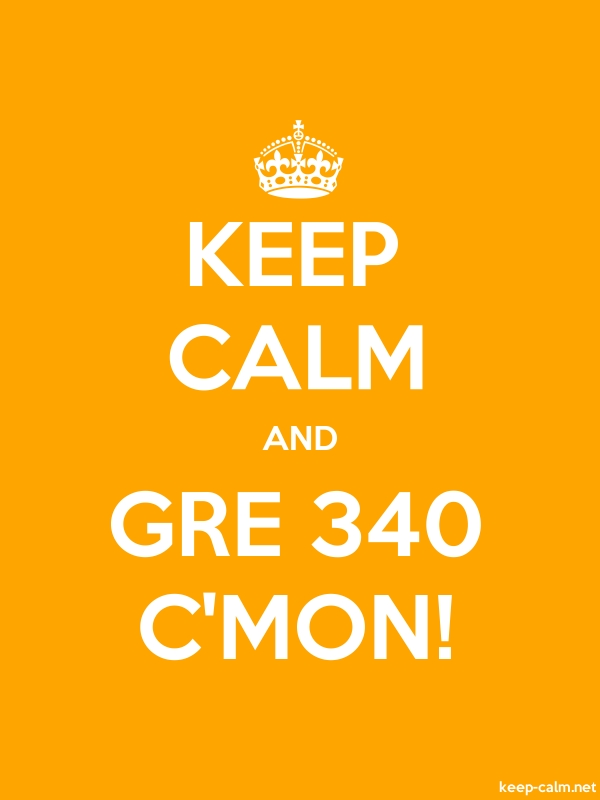 KEEP CALM AND GRE 340 C'MON! - white/orange - Default (600x800)