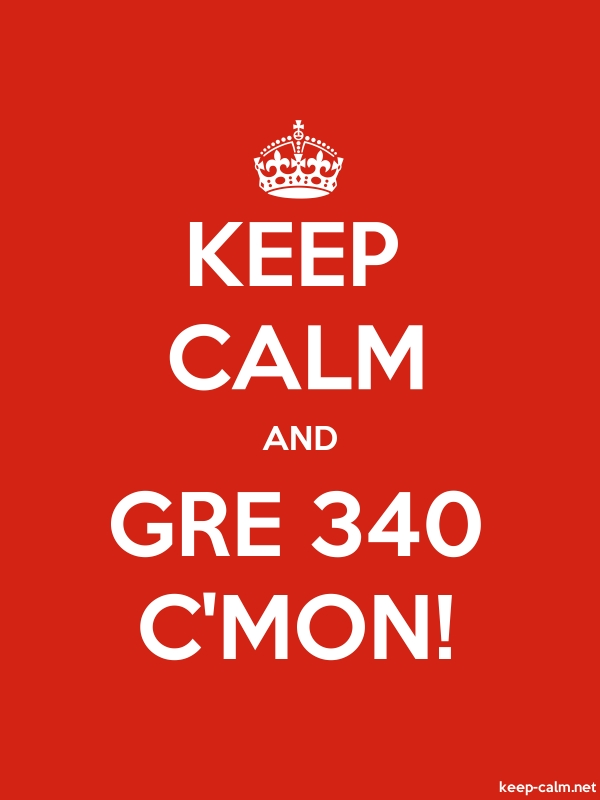 KEEP CALM AND GRE 340 C'MON! - white/red - Default (600x800)