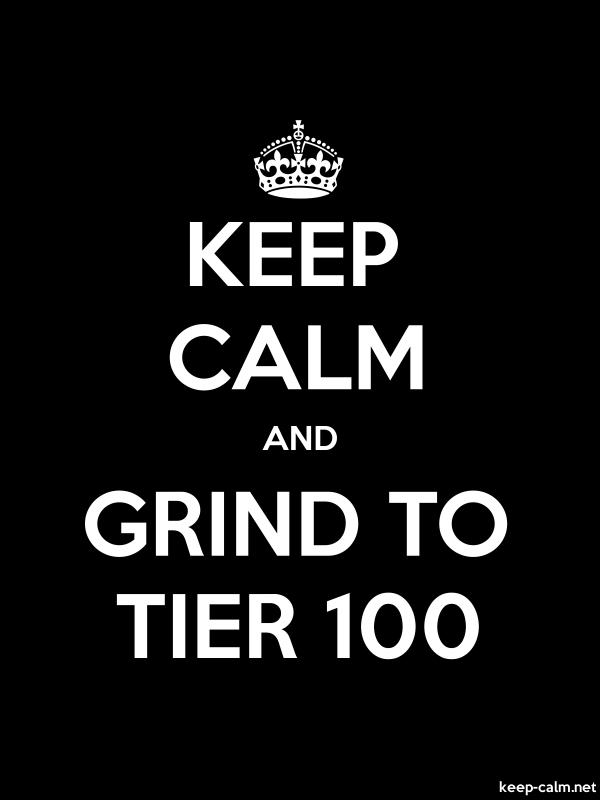 KEEP CALM AND GRIND TO TIER 100 - white/black - Default (600x800)
