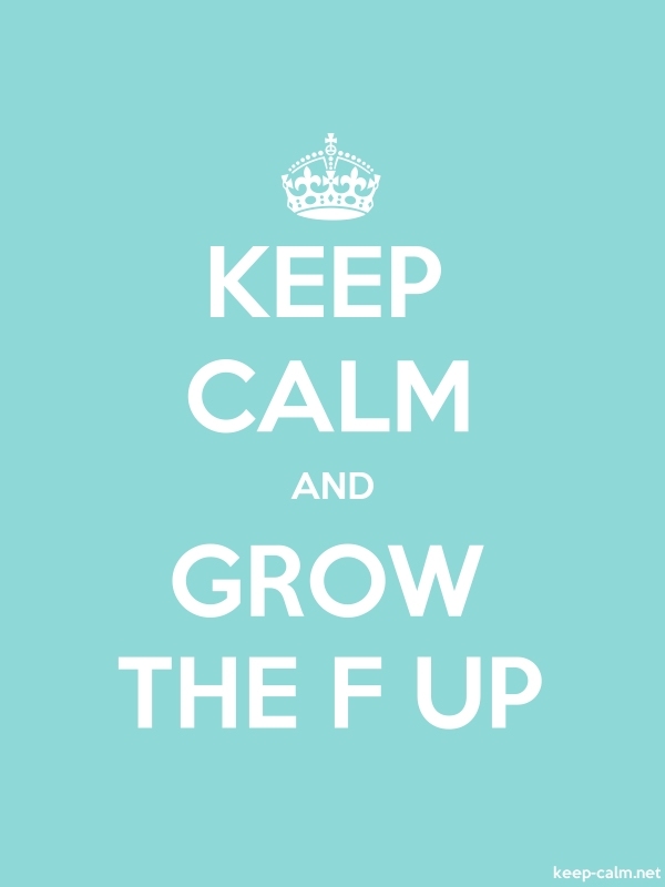 KEEP CALM AND GROW THE F UP - white/lightblue - Default (600x800)