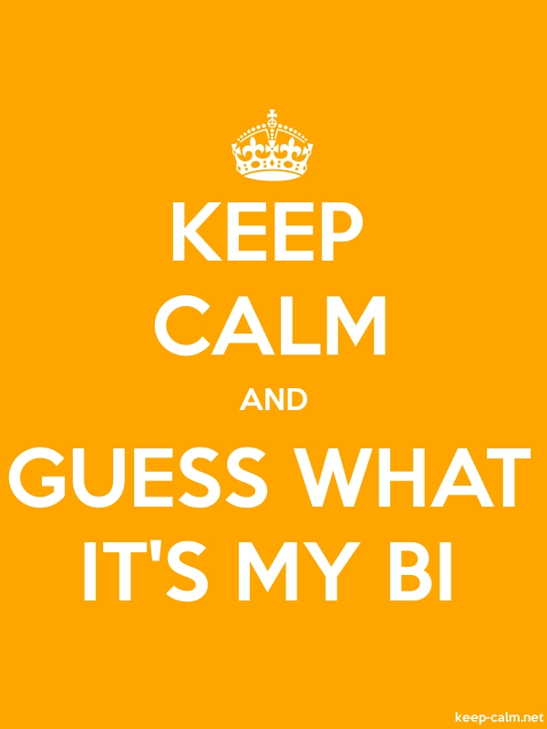 KEEP CALM AND GUESS WHAT IT'S MY BI - white/orange - Default (600x800)