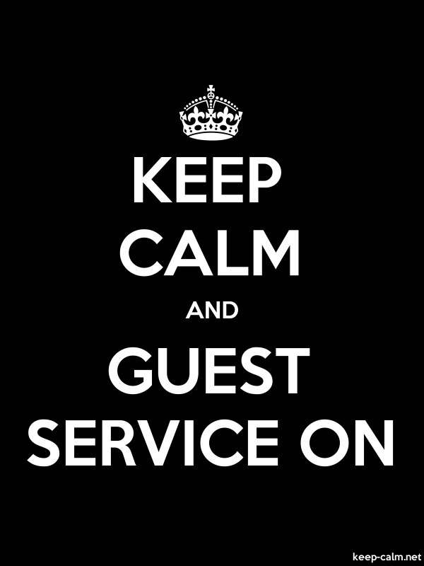 KEEP CALM AND GUEST SERVICE ON - white/black - Default (600x800)