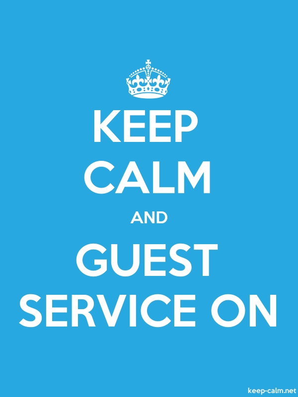 KEEP CALM AND GUEST SERVICE ON - white/blue - Default (600x800)