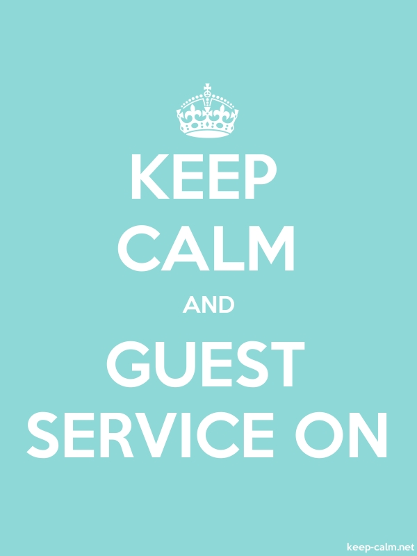 KEEP CALM AND GUEST SERVICE ON - white/lightblue - Default (600x800)
