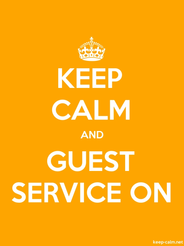 KEEP CALM AND GUEST SERVICE ON - white/orange - Default (600x800)
