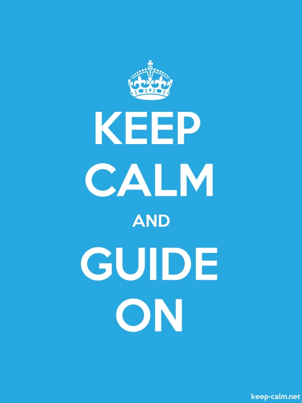 KEEP CALM AND GUIDE ON - white/blue - Default (600x800)