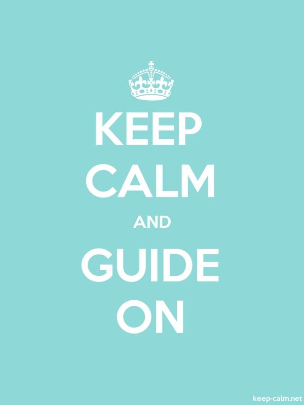 KEEP CALM AND GUIDE ON - white/lightblue - Default (600x800)