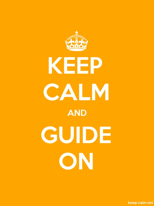KEEP CALM AND GUIDE ON - white/orange - Default (600x800)