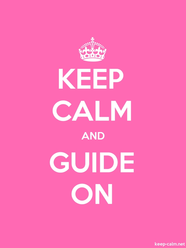 KEEP CALM AND GUIDE ON - white/pink - Default (600x800)
