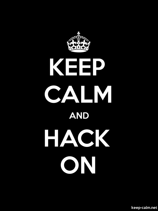 KEEP CALM AND HACK ON - white/black - Default (600x800)