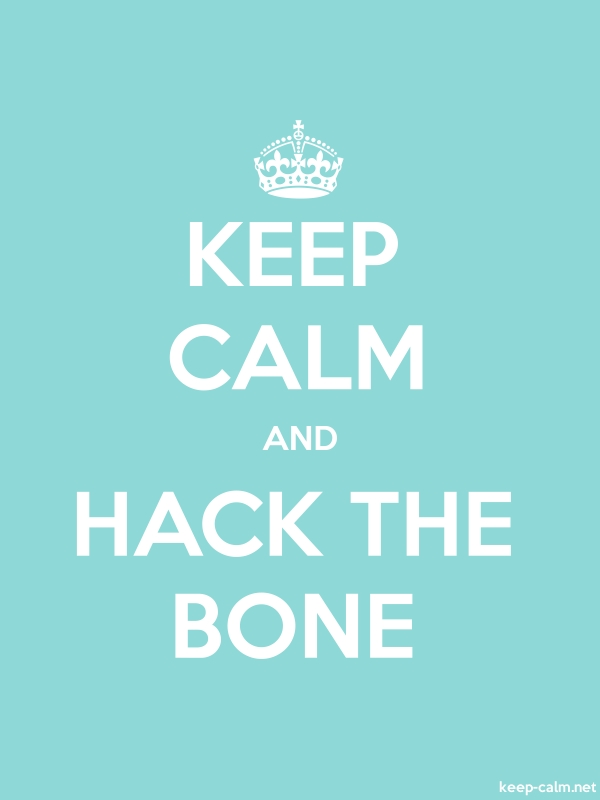 KEEP CALM AND HACK THE BONE - white/lightblue - Default (600x800)