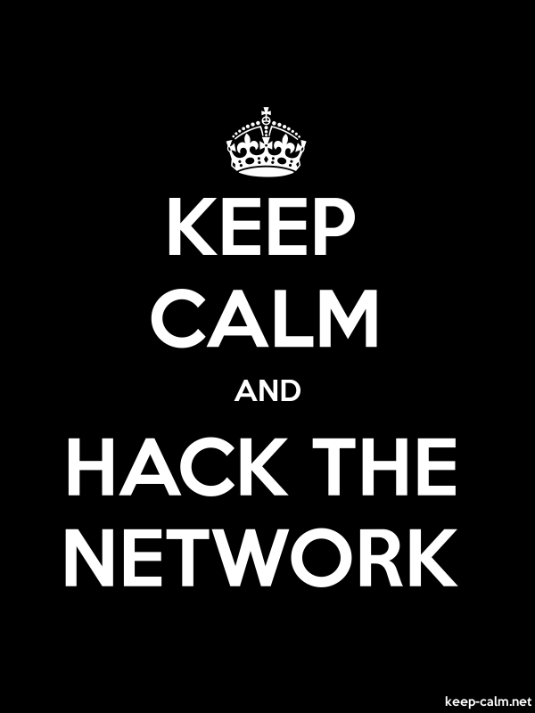 KEEP CALM AND HACK THE NETWORK - white/black - Default (600x800)