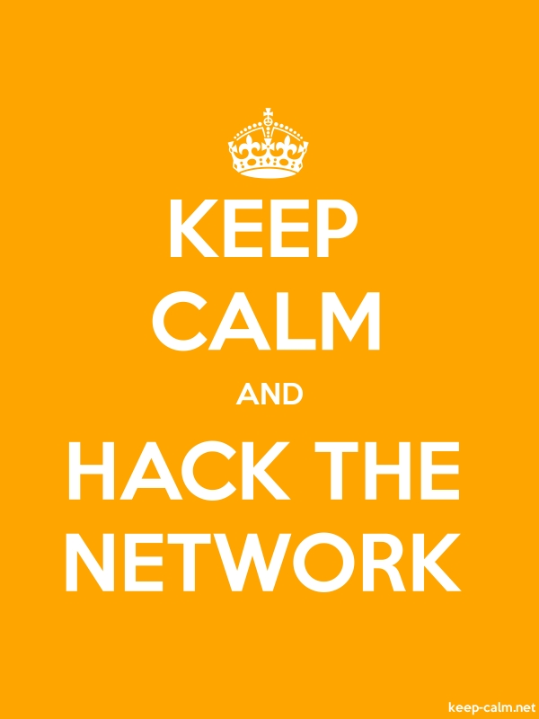 KEEP CALM AND HACK THE NETWORK - white/orange - Default (600x800)